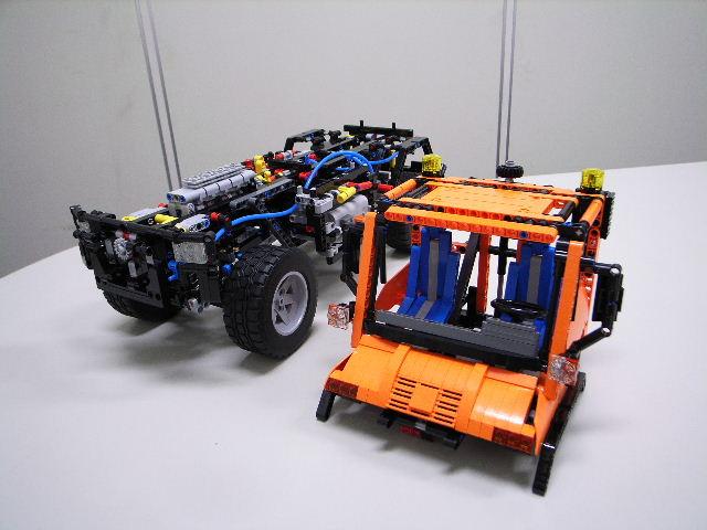 LEGO (R) 『ウニモグ U400』 組立進捗レポート (その5)